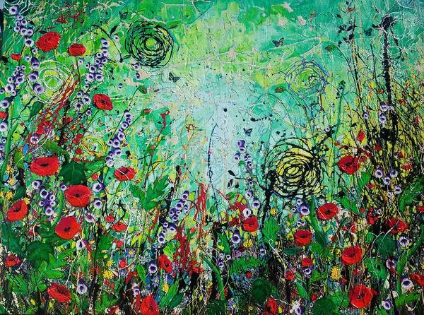 Wall Art - Painting - The Poppy Patch by Angie Wright