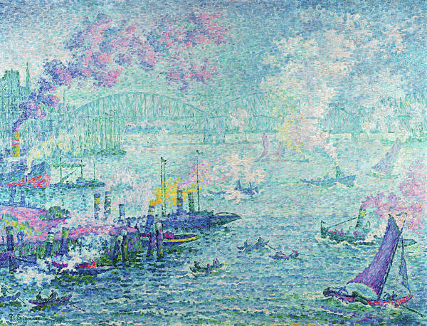 Wall Art - Painting - The Port Of Rotterdam, 1907 by Paul Signac