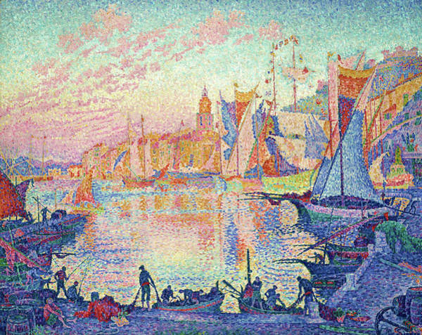 Neo-impressionism Wall Art - Painting - The Port Of Saint-tropez - Digital Remastered Edition by Paul Signac