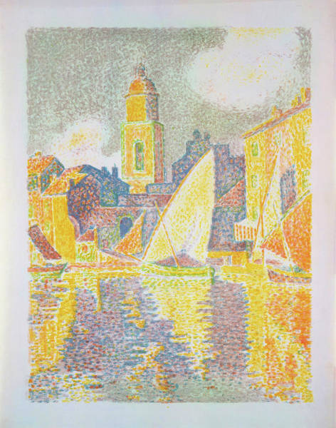 Neo-impressionism Wall Art - Painting - The Port, Saint-tropez - Digital Remastered Edition by Paul Signac