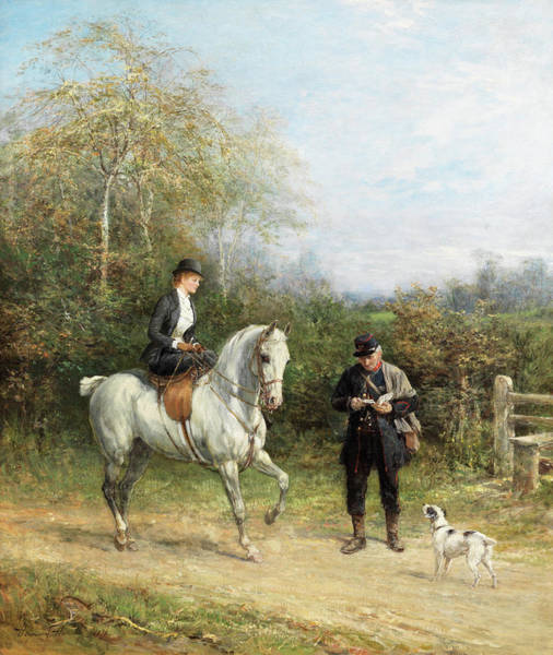 Wall Art - Painting - The Postman by Heywood Hardy