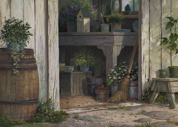 Wall Art - Painting - The Potting Shed by Michael Humphries
