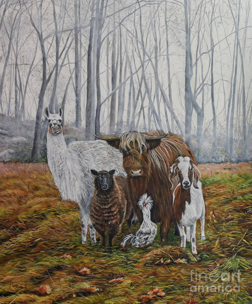 Black Buck Painting - The Power Team by Marilyn McNish