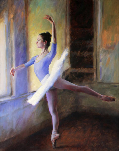 Practice Wall Art - Painting - The Practice Tutu by Anna Rose Bain