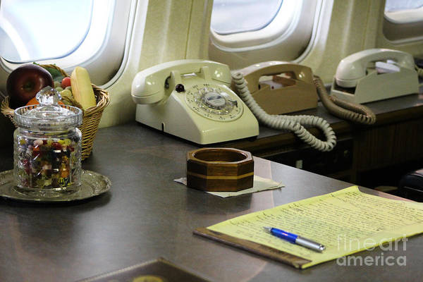 Photograph - The Presidential Desk On Air Force One by Colleen Cornelius