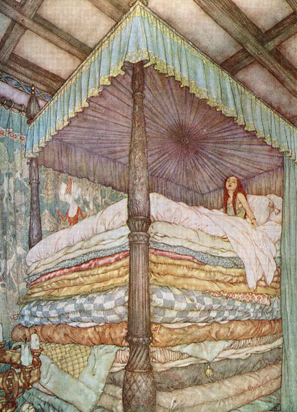 Bedding Digital Art - The Princess And The Pea by Graphicaartis