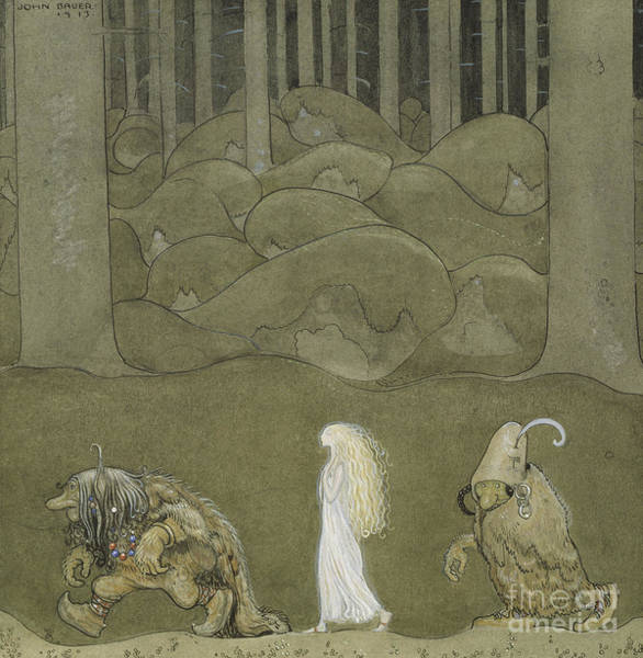 Wall Art - Painting - The Princess And The Trolls, 1913 by John Bauer