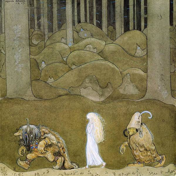 Wall Art - Painting - The Princess And The Trolls - Digital Remastered Edition by John Bauer