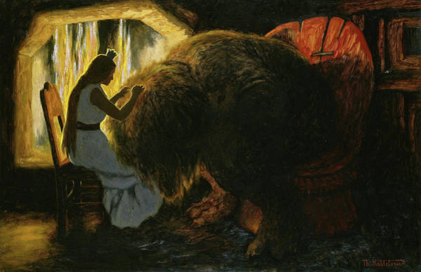 Wall Art - Painting - The Princess Picking Lice From The Troll, 1900 by Theodor Kittelsen