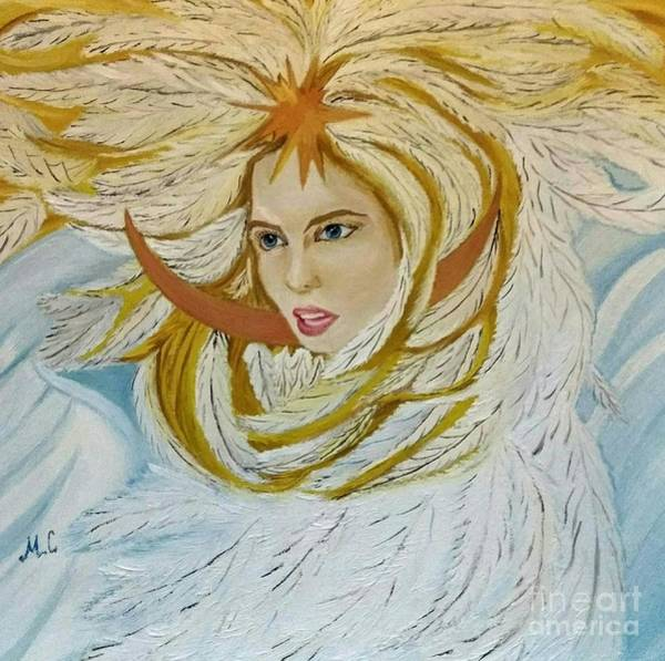 Wall Art - Painting - The Princess-swan From The Russian Fairytale by Maria Sibireva