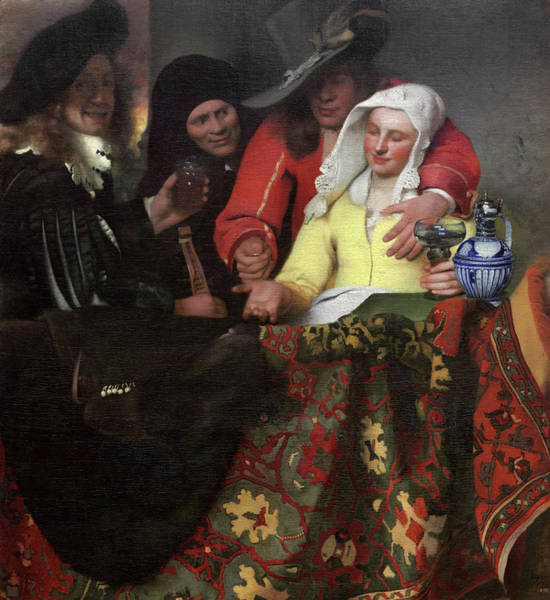 The Procuress, 1656 Art Print