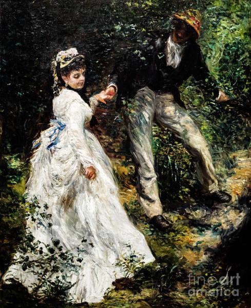 Painting - The Promenade by Auguste Renoir