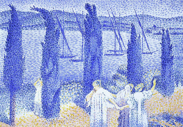 Wall Art - Painting - The Promenade - Digital Remastered Edition by Henri Edmond Cross