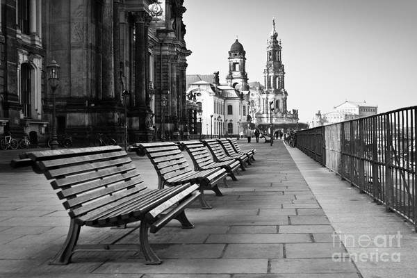 Wall Art - Photograph - The Promenade On Waterfront In Dresden by Vera Kailova