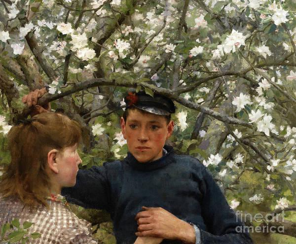 Wall Art - Painting - The Promise, 1888 by Henry Scott Tuke