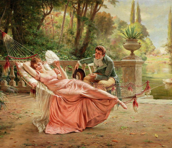 Wall Art - Painting - The Proposal by Frederic Soulacroix