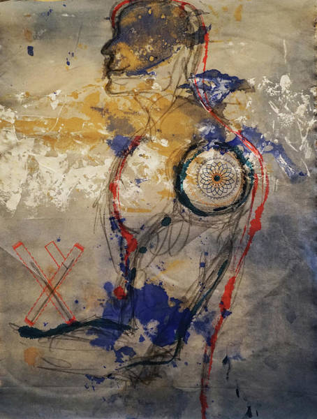 Mixed Media - The Protector Of The Sacred Feminine  by Giorgio Tuscani