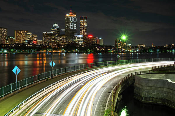 Photograph - The Pru Lit Up For The Boston Bruins Boston Ma Charles River by Toby McGuire