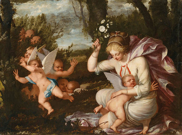 Painting - The Punishment Of Cupid by Pietro Liberi