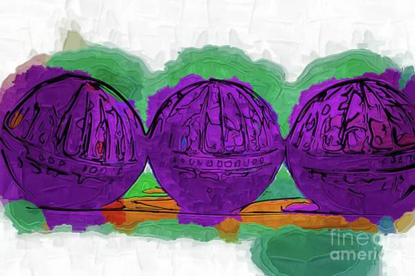 Digital Art - The Purple Balls by Kirt Tisdale