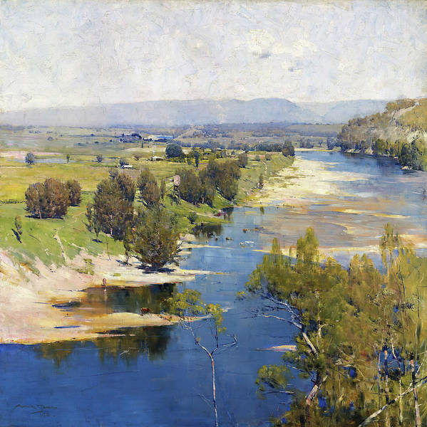 Wall Art - Painting - The Purple Noon's Transparent Might - Digital Remastered Edition by Arthur Streeton