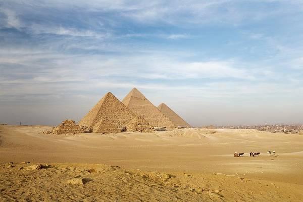 Giza Photograph - The Pyramids, Giza, Cairo, Egypt by Design Pics/deddeda