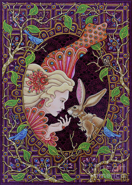 Painting - The Queen And The Hare by Amy E Fraser