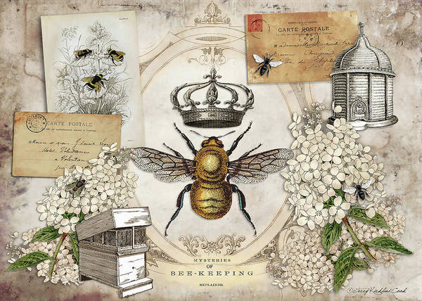 Digital Art - The Queen Bee by Terry Kirkland Cook