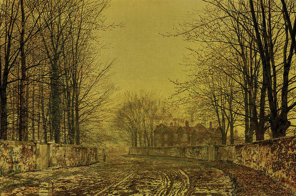 Gateway Painting - The Queens Highway, 1880 by John Atkinson Grimshaw