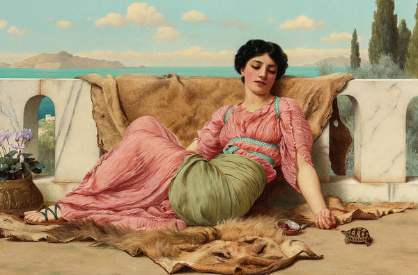 Wall Art - Painting - The Quiet Pet, 19th Century by John William Godward