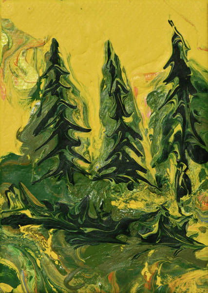Painting - The Quiet Pines by Donna Blackhall