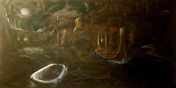 Wall Art - Painting - The R. Lethe, Styx by Thomas Burman