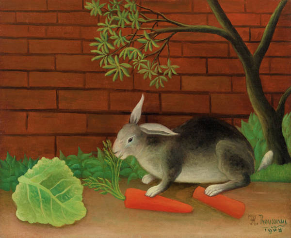 Rabbit Painting - The Rabbit's Meal - Digital Remastered Edition by Henri Rousseau