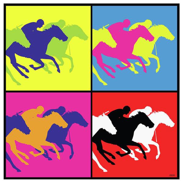 Wall Art - Drawing - The Race Horse by Greg Joens