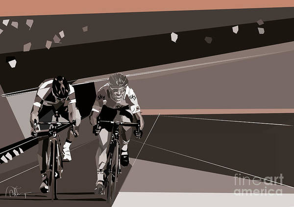 Digital Art - The Race Is On by Wendy Thompson