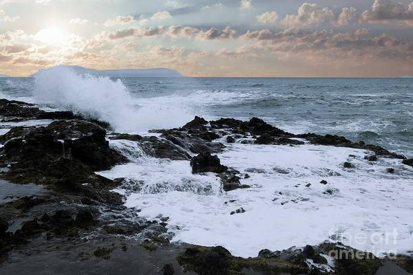 Wall Art - Photograph - The Rage The Waves And The Rocks by Jeff Swan