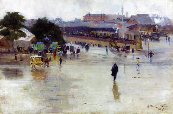 Wall Art - Painting - The Railway Station, Redfern - Digital Remastered Edition by Arthur Streeton