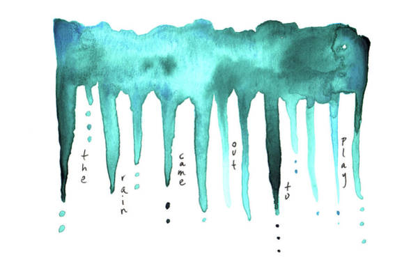 Painting - The Rain Came Out To Play by Anna Elkins