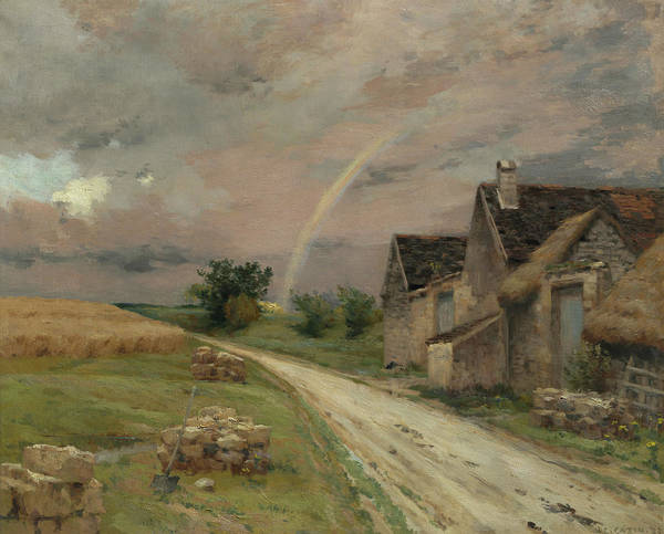 Wall Art - Painting - The Rainbow, Acheres The Forest, 1891 by Jean-Charles Cazin