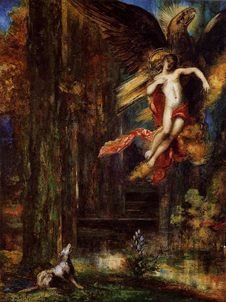 Painting - The Raising Of Ganymede  by Gustave Moreau