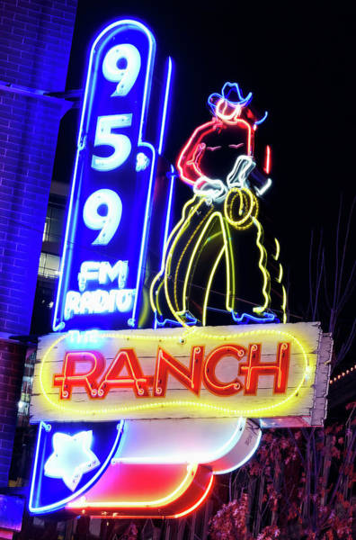 Photograph - The Ranch Neon Fort Worth 022219 by Rospotte Photography
