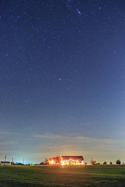 Ranch Photograph - The Ranch Under The Stars by Wild Horse Photography