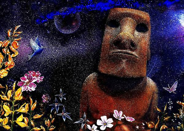Mixed Media - The Rapa Nui Enigma  by Hartmut Jager