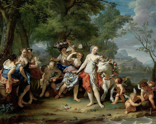 Wall Art - Painting - The Rape Of Europa, 1740 by Nicolaas Verkolje