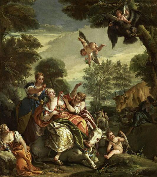 Wall Art - Painting - The Rape Of Europa, 1743 by Giovanni Battista Tiepolo