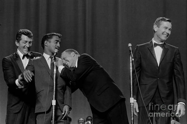 Wall Art - Photograph - The Rat Pack Perform With Carson by Cbs Photo Archive