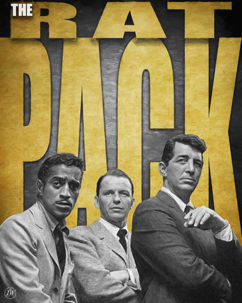 Dean Martin Digital Art - The Rat Pack by Rick Wiles