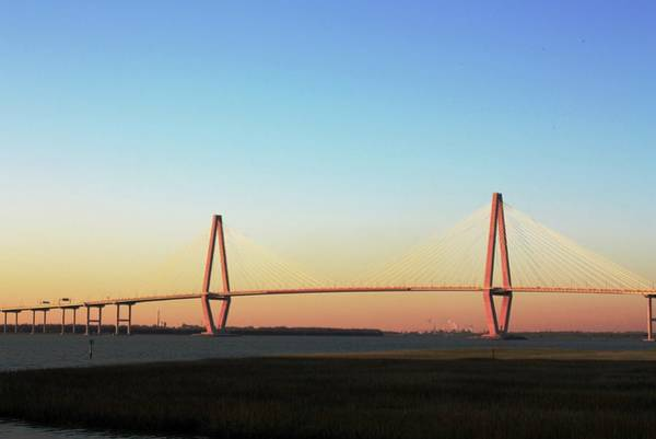 South Carolina Photograph - The Ravenel Bridge At The Golden Hour by Daniela Duncan