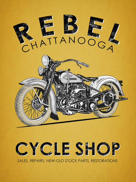 Wall Art - Photograph - The Rebel Cycle Shop by Mark Rogan