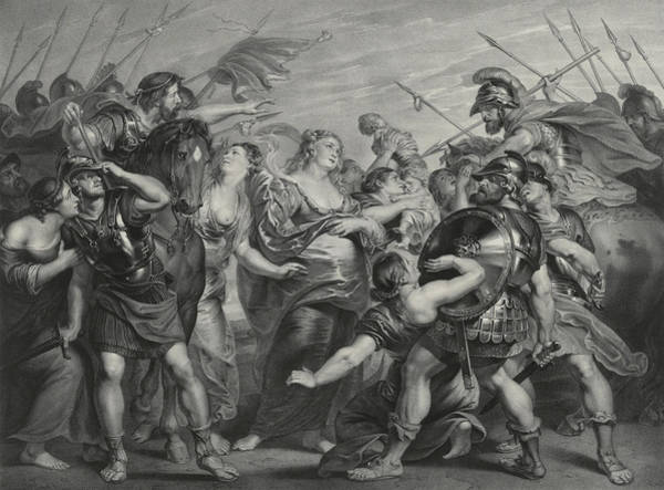 Wall Art - Painting - The Reconciliation Of The Romans And Sabines by Peter Paul Rubens